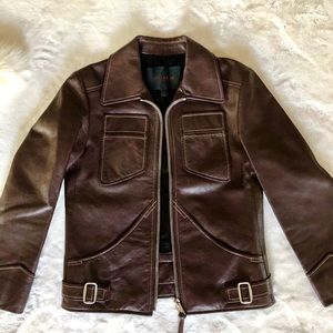 Coach leather jacket S